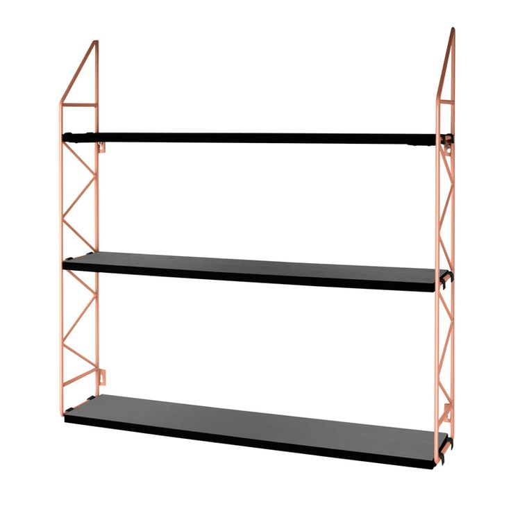 Zig Zag Wall Rack - Copper