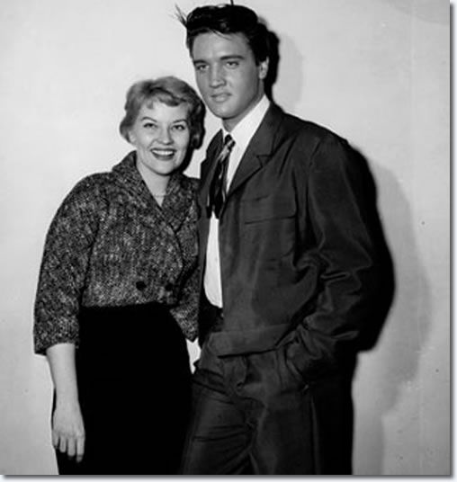 Patti Page and Elvis. Date 6th February 1958. Paramount Studios. | Gordon Stoker: 'Between scenes we sang spirituals, that's what Elvis wanted to do. Charlie O'Curran was the Choreographer on several films, including 'King Creole', and he brought Patti Page, his wife to the set. - See more at: http://www.elvispresleymusic.com.au/pictures/1958_king_creole_2.html#sthash.jRfS0onV.dpuf