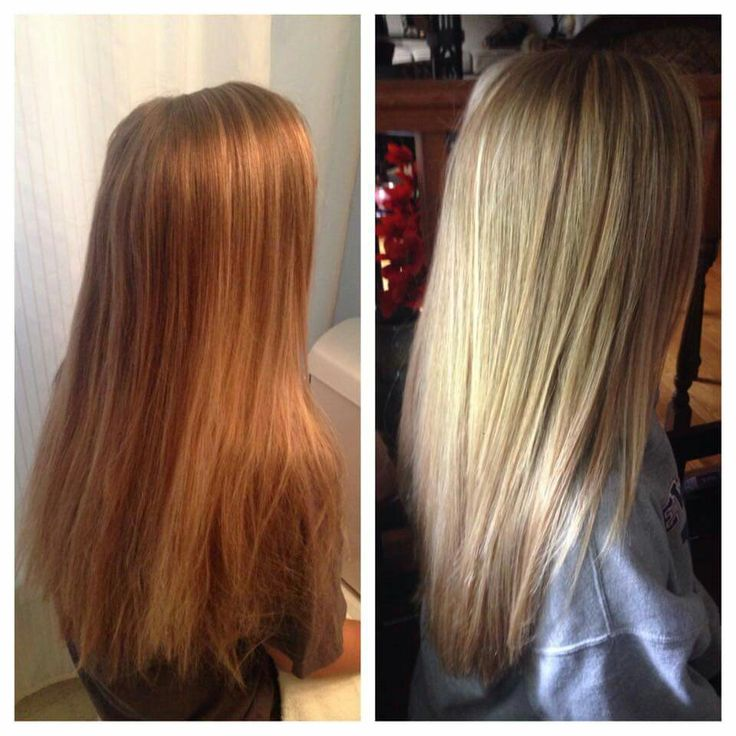 Full Head of Highlights before and after