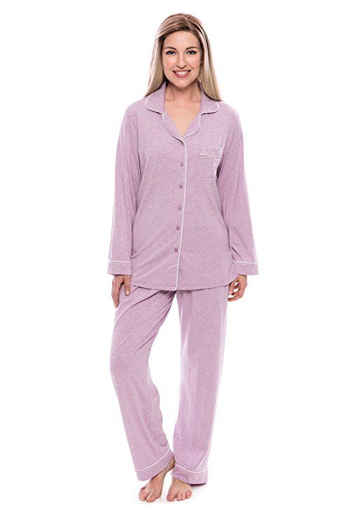 8485b28085 Women s Button-Up Long Sleeve Pajamas - Sleepwear set by Texere  (Classicomfort)