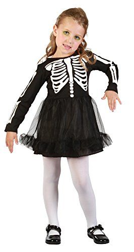 Bristol Novelty Skeleton Girl Toddler Dress Age 2 -3 Years Best Halloween  Costumes   Dresses d5bedeacea2bb
