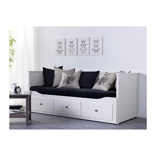 HEMNES Day-bed frame with 3 drawers, white 80x200 cm white