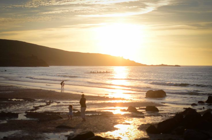 Sunset at Carbis Bay, St Ives, Cornwall