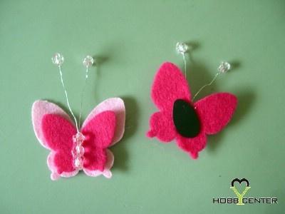 Tavaszi kreatív ötletek: Pillangós hűtő mágnes    http://www.hobbycenter.hu/Unnepek/pillangos-ht-magnes.html