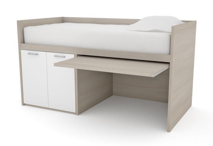 Single Bed And Desk Part - 32: Desk Bed, | Energy Restoration | Pinterest | Kids Storage Beds, Spare Room  And Desk Bed
