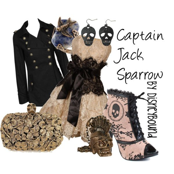 """""""Captain Jack Sparrow"""" by lalakay on Polyvore: Fashion, Style, Captain Jack Sparrow, Disney Inspired, Dress, Outfit, Jack O'Connell, Disneybound, Disney Bound"""
