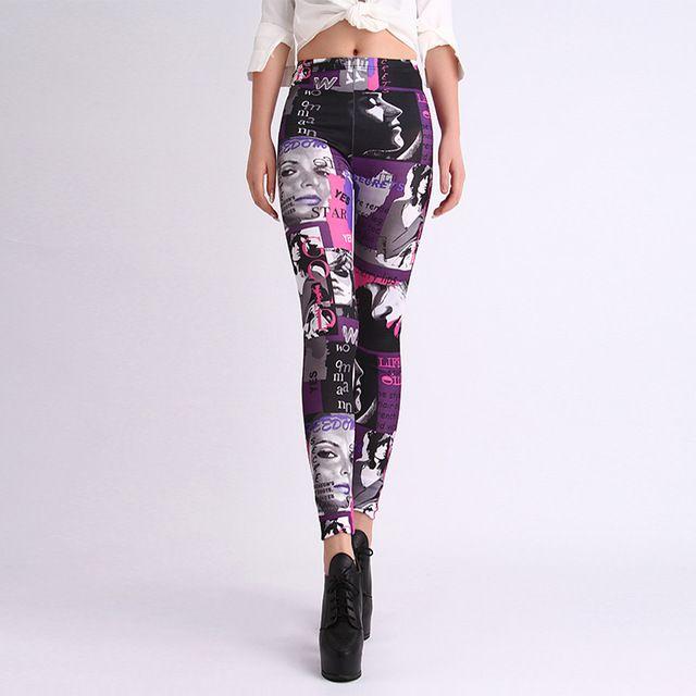 Wanita baru pernas adventure time legging leggings galaksi montase doce legging kebugaran untuk fitness