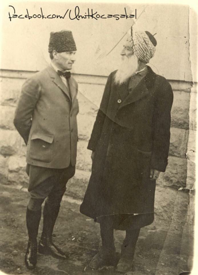 Atatürk and Diyap Ağa.   Ankara, 1921.  Diyap Yıldırım Ağa was a member of the First National Turkish Republic Assembly; he was a Zaza-Kurd and an Alevi from Dersim/Tunceli.