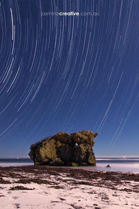 Wreck Point || Two Rocks WA   1 o'clock in the morning 10 degrees Celsius I only lasted a couple of hours before I could no longer stay out in the cold. #photography #startrail #night - http://ift.tt/1HQJd81