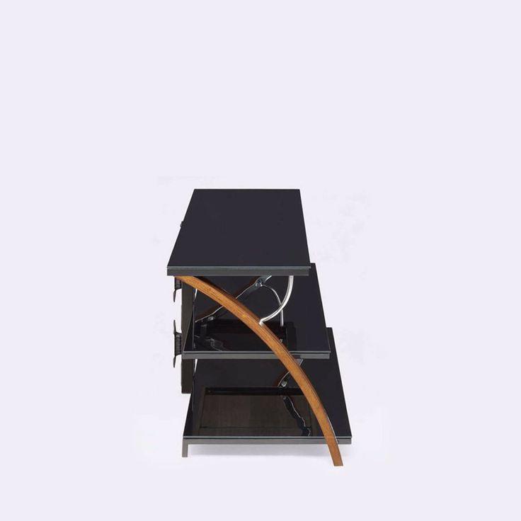 """TV Stand 70"""" Flat Screen Entertainment Center Modern 3 Shelf Console Table Brown #Whalen #Modern"""