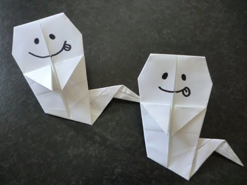 ハロウィン折り紙★おばけ ghost Origami - YouTube
