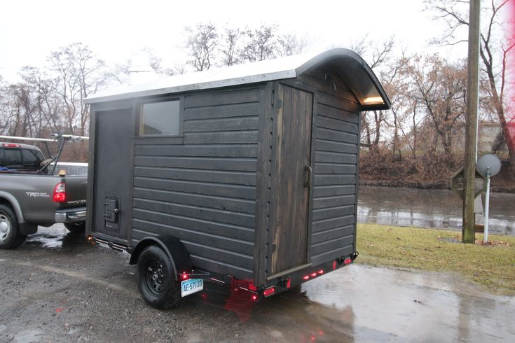 mobile sauna ready to deliver