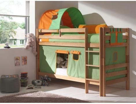 topdecomeuble chambres enfant lit enfant lit enfant superpos anis en h tre cabane. Black Bedroom Furniture Sets. Home Design Ideas