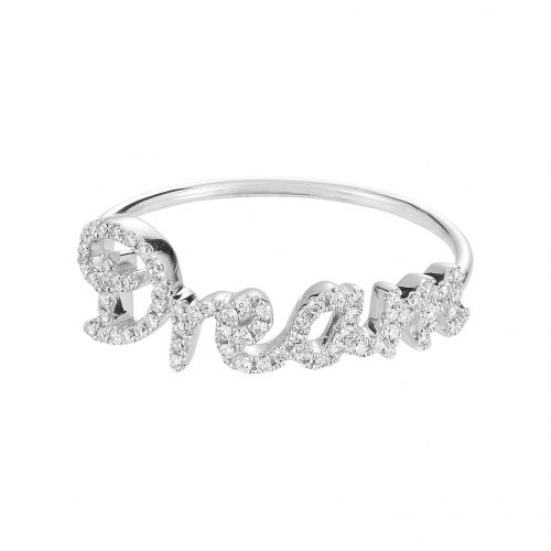 Dream ring in white gold 18 k with white diamonds.