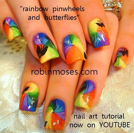 "Robin Moses Nail Art: ""rainbow nails"" ""rainbow nail art"" ""dog paw nails"" ""rainbow heart nails"" ""pride nails"" ""LGBT nails"" ""diy nails"" ""diy rainbow"" nails nailart ideas designs tutorials robin moses"