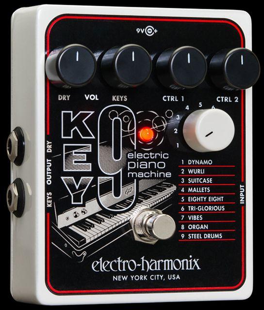 electro harmonix cathedral pedale pour guitare electrique argent