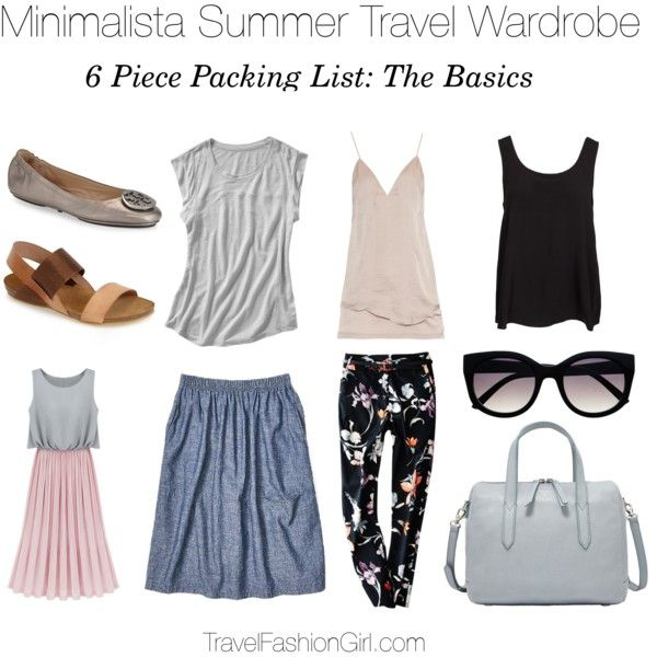 Sample 6 piece packing list and capsule wardrobe set for travel in the summer - read the full packing guide!