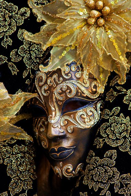 Be in the carnival. Venetian mask - I WILL go to Venice for Carnival before I die :)