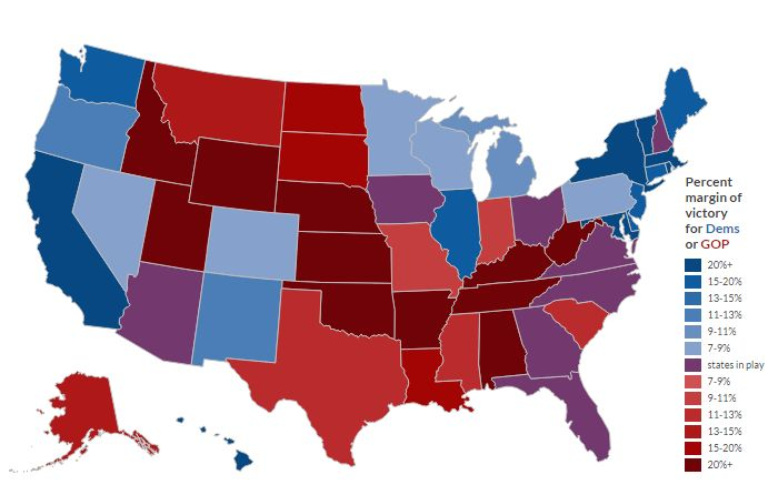 2016 Presidential electoral college map