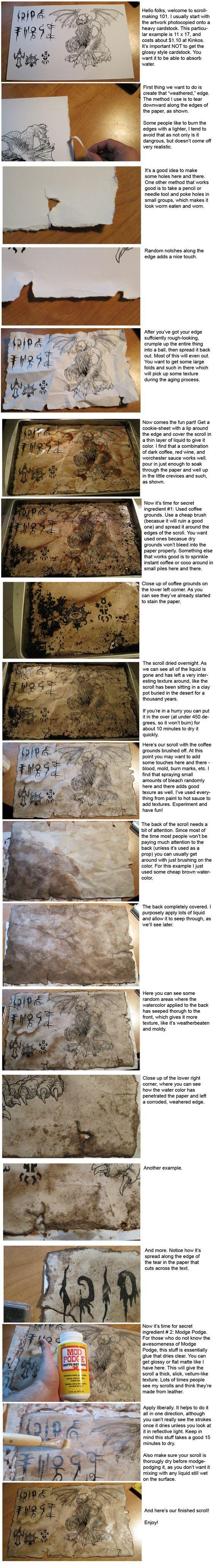 Scroll making Tutorial by hawanja.deviantart.com on @deviantART