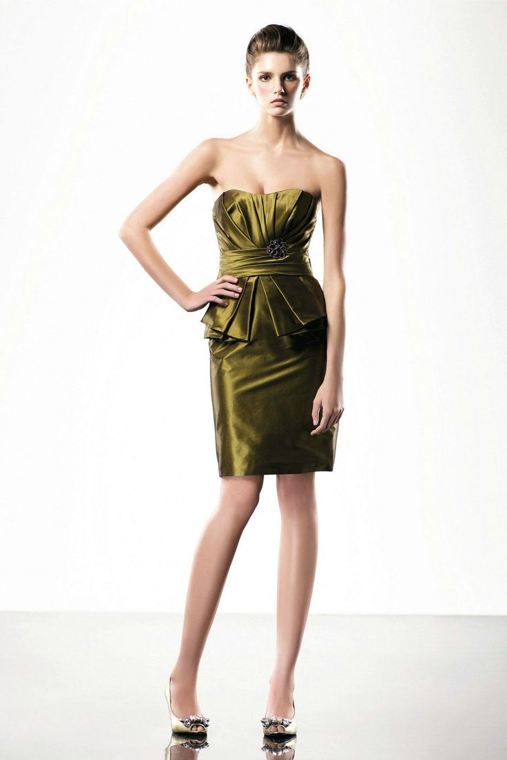 20 best short evening dress images on pinterest short evening taffeta mini short strapless green 2010 love by enzoani prom dresses ombrellifo Images