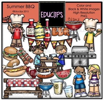 Summer will be sizzling with this set of BBQ images. The set includes BBQ sauce, mustard, ketchup, grill, burger, kebabs, chicken leg, hotdog, sausage, steak, watermelon, lemonade pitcher and glass, picnic table and kids cooking and eating.This set contains all of the images shown.46 images (23 in color and the same 23 in B&W)Images saved at 300dpi in PNG files.For personal or commercial use.Download preview for TOU.This is a zip file.