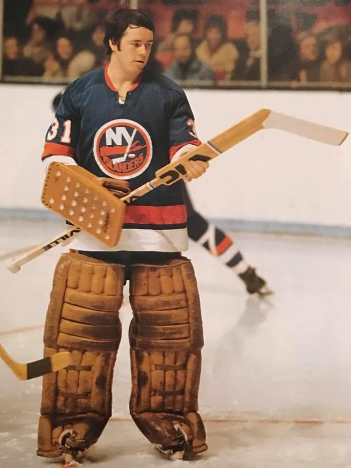 Billy Smith in his early years with the N.Y. Islanders.