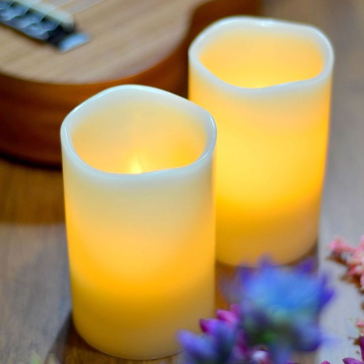 2x Battery Operated Flameless Wax Votive LED Candle Lights With Remote Control   Home & Garden, Home Décor, Candles   eBay!
