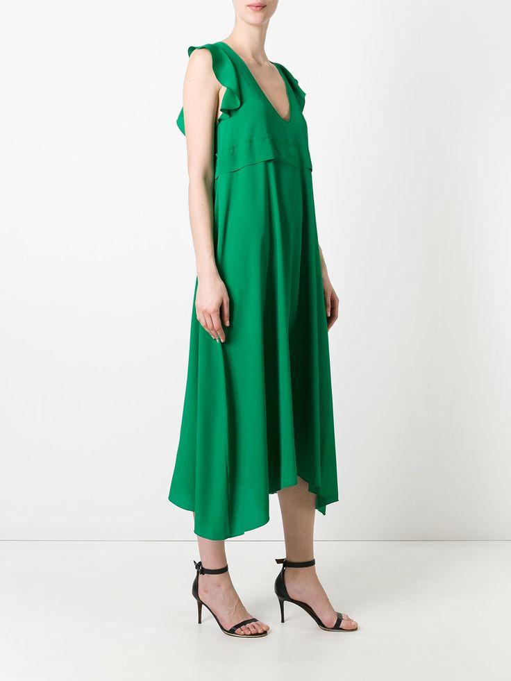 Nº21 длинное платье с рюшами
