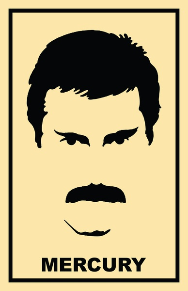 Hot Space inspired Freddie Mercury Art Print