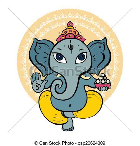 Vector - hindú, dios, ganesha - stock de ilustracion, ilustracion libre de, stock de iconos de clip art, logo, arte lineal, retrato de EPS, Retratos, gráficos, dibujos gráficos, dibujos, imágenes vectoriales, trabajo artístico, Arte Vectorial en EPS