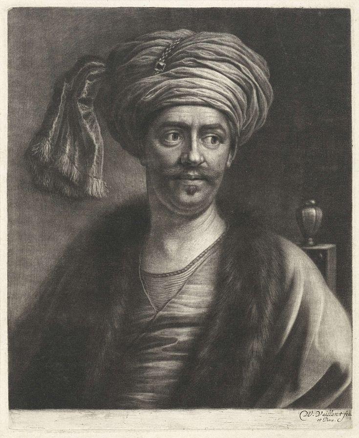 Portret van Süleyman II, sultan van het Ottomaanse Rijk, Wallerant Vaillant, 1658 - 1677