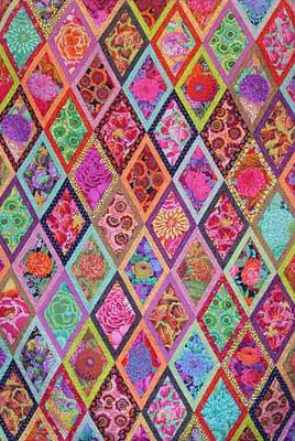 Bordered Diamonds quilt from Kaffe's book Simple Shapes Spectacular Quilts