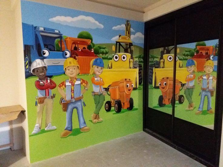 175 best custom murals images on pinterest murals wall for Bob the builder wall mural