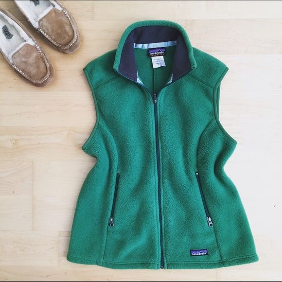 Flash sale✨Patagonia fleece vest Patagonia green fleece vest size l. EUC. Patagonia Jackets & Coats Vests