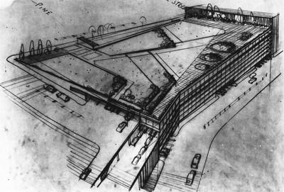 Proposed Pike Place Market redevelopment, 1950