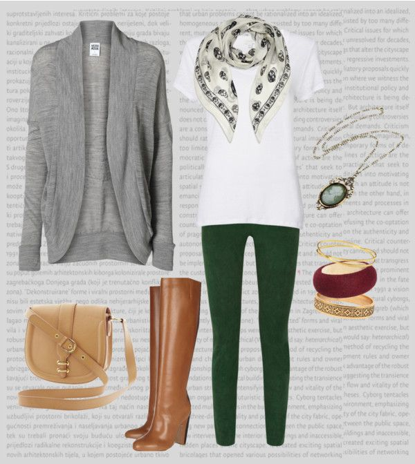 """Forest Green Leggings"" by t-n-d on Polyvore"