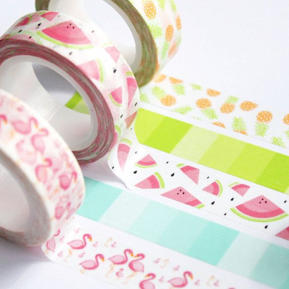 Washi tape Piñas 15mm x 10m por lorabailora en Etsy