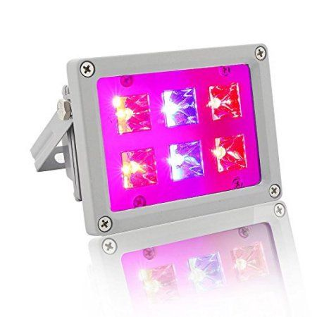 Buy LVJING 12W LED Grow Light Bulb, Plant Lamp for Indoor Garden Greenhouse and Hydroponic System Organic Plant Veg Flower Herbs Growing, Hanging Flood light Kit with US Plug at Walmart.com