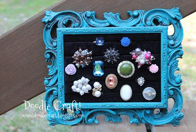 How to make vintage frame ring holder displays!!!!  Such and awesome idea!