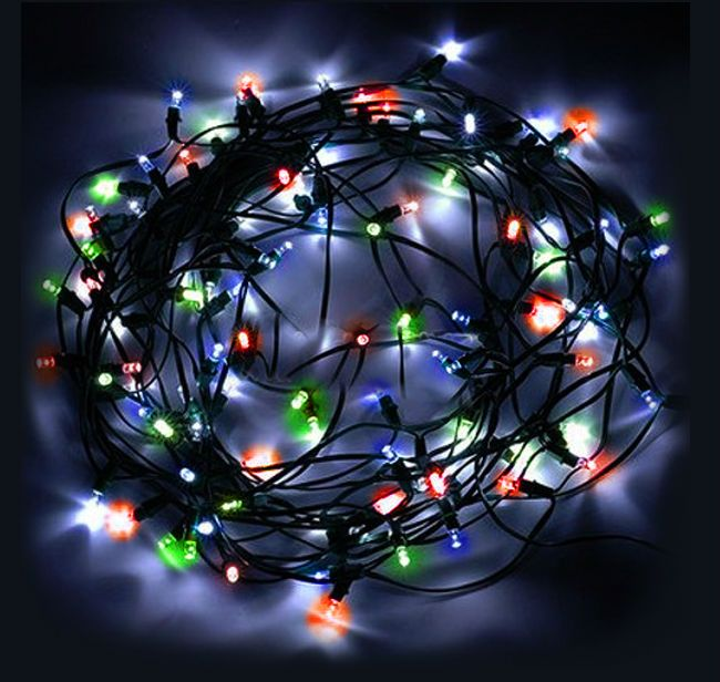 multi color solar power 100 led 17m string fairy tree lights light for christmas party - Solar Powered Christmas Tree