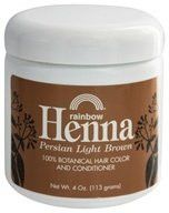 Rainbow Henna 100% Botanical Hair Color and Conditioner - Persian Light Brown - 4 oz