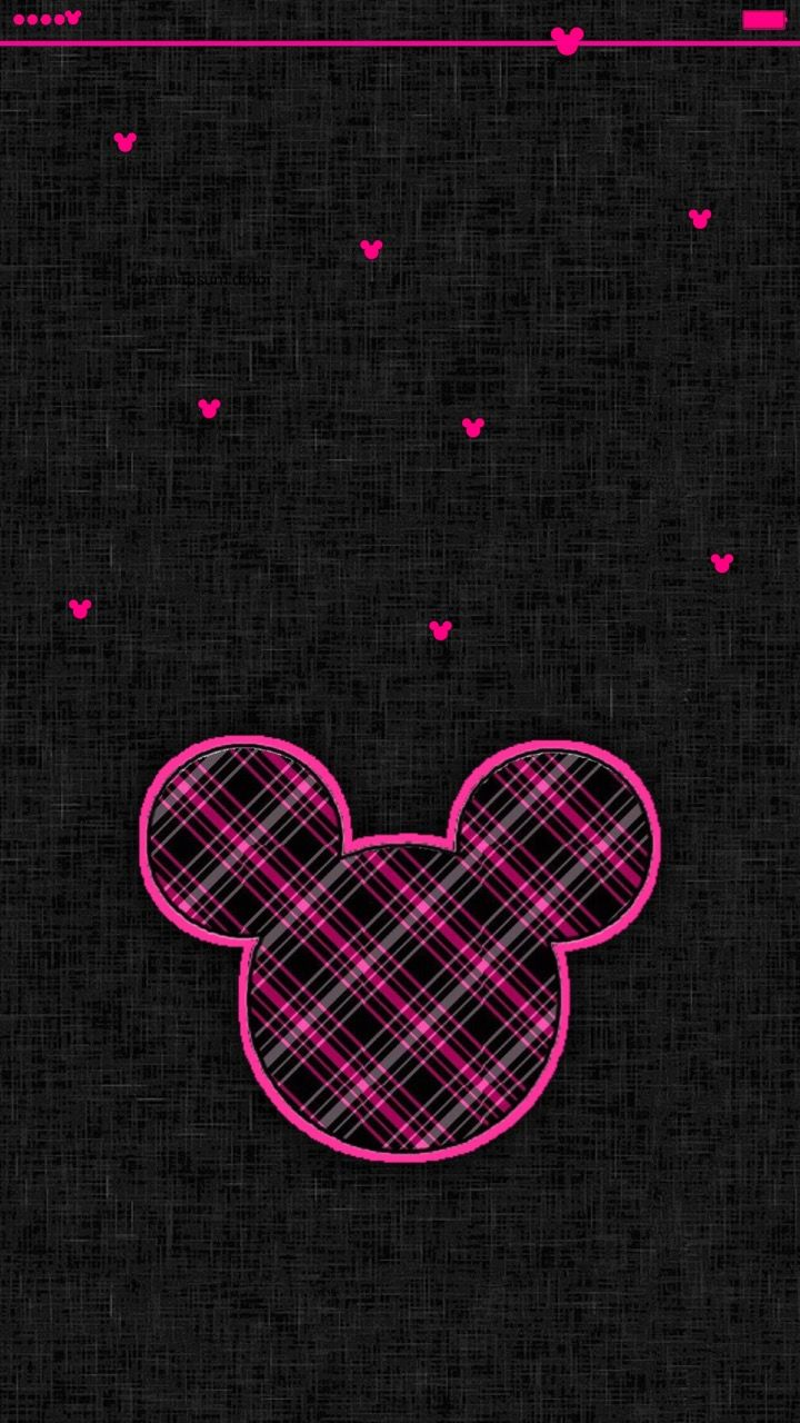 Wallpaper iphone mickey - Iphone 6s Plus Mickey Mouse Pink Black Wallpaper