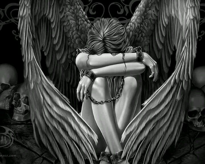 Image result for female angel wrapped in chains