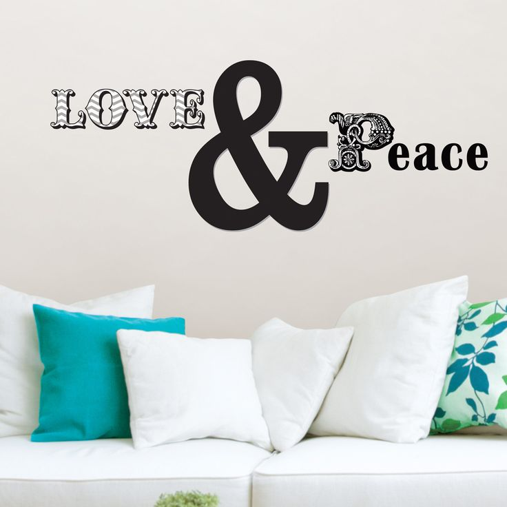 WallPops Love and Peace Small Wall Decal Kit