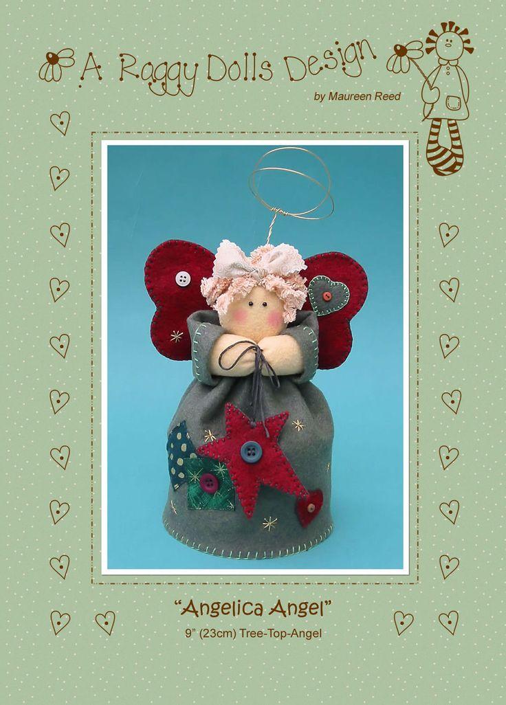ANGELICA TREE TOP ANGEL - Felt Sewing Craft PATTERN - Xmas Christmas | eBay
