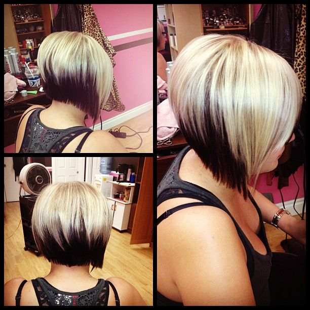 If I ever get a bob again, I think I'll go with drastic coloring like this