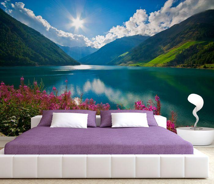 Fototapeta Górskie jezioro w Bolzano