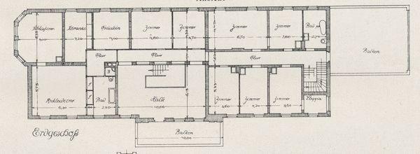 Thymau, Herrenhaus, Grundriss des Erdgeschosses