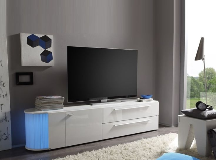 Daiquiri, Modern TV Cabinet In Anthracite Gloss Finish, Optional Lights |  Lounge | Pinterest | Modern Tv Cabinet, Tv Cabinets And Contemporary